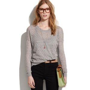 Madewell Studio Sweater Diamond Stitch Size Small